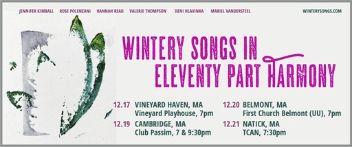 Tickets available for 2017 Wintery Songs shows